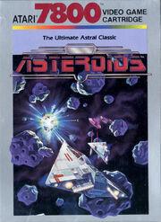 Asteroids Atari 7800 Box Art