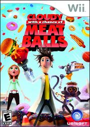 Cloudy With A Chance Of Meatballs Wii Box Art