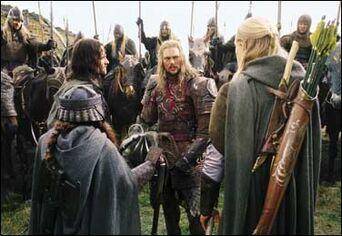 Eomer met Aragorn