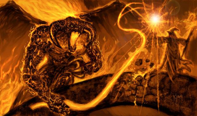 File:Balrogs and Gandalf by kirocomic.jpg
