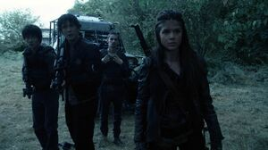 The100 S3 Wanheda Part 1 Monty Bellamy Jasper Octavia