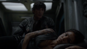 The 100 S4 episode 6 -Octavia & Bellamy