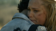 Clarke saying goodbye to Bellamy