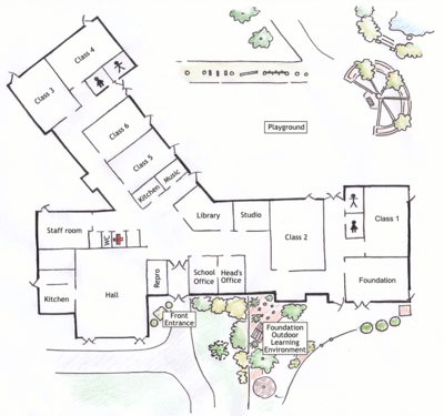 School-map annotated