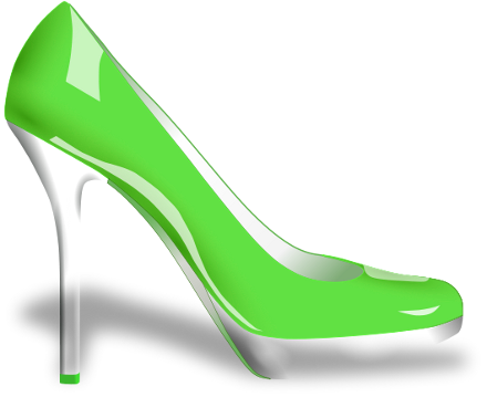 File:Glossy high heel shoe green.png