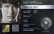 District 8 Tribute Boy ID Card 2