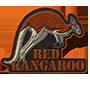 Red kangaroo badge