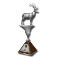 Trophy elk silver