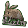 European rabbit badge