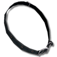 Dog collar leather black