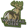 Whitetail deer badge