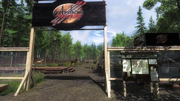 Darkwood Lodge entrée du stand de tir