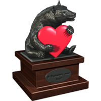 Valentine 2015 BlackBear trophy hematit