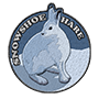 Snowshoe hare badge