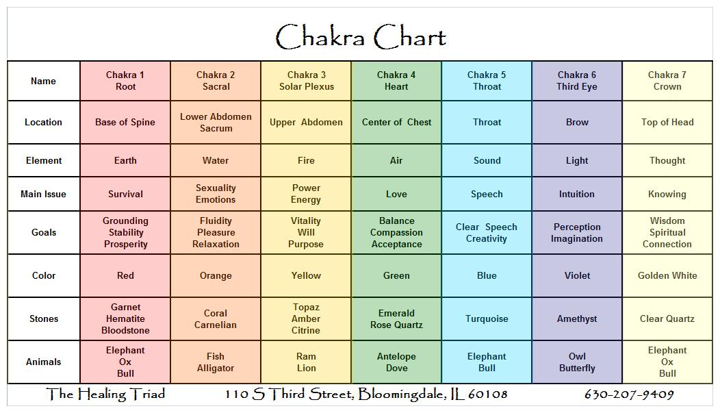 12 Chakra System Chart: Healing For Dummies – Billy Knight