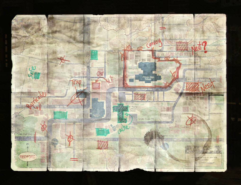 Bills Map The Last Of Us Wiki FANDOM Powered By Wikia - Last of us all maps free