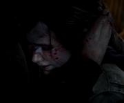 Ellie Weeps in Joel's Arms