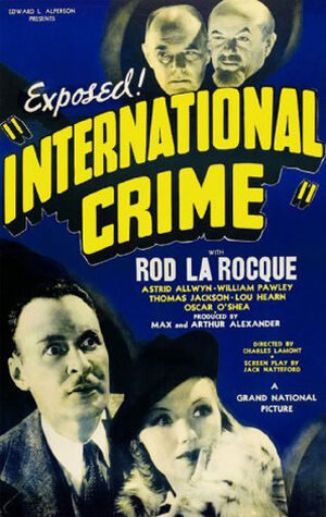 International Crime (1938 Movie Poster)