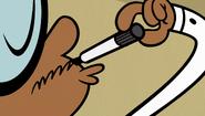 S1E01B Clyde draws a mustache