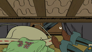S1E10A Lincoln puts the jockstrap under the bed