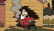 S2E17B Mr. Grouse accidentally wrecks his own garage