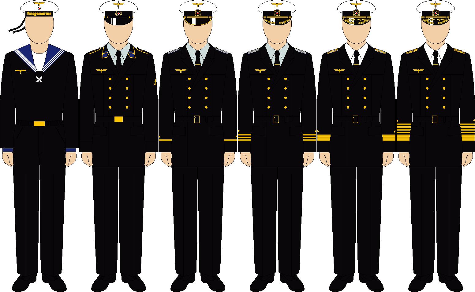 Kriegsmarine winter service uniforms by thefalconette-d52poqu