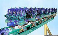 SeaWorld Kraken Roller Coaster Train
