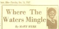 Where The Waters Mingle by Mary Hyre 11/16/67