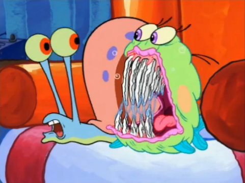 File:Puffy Fluffy showing off his long sharp teeth in front of Gary.png