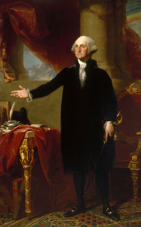Gilbert Stuart, George Washington (Lansdowne portrait, 1796)