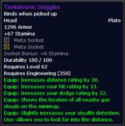 Tankatronic Goggles