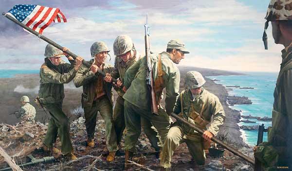 File:B Iwo Jima the first flag.jpg