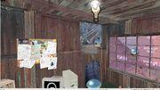 Shack interior viewed in Hammer