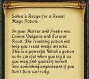 Sohea's Resist Magic Recipe