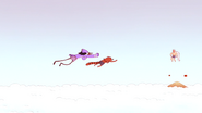 S4E13.266 Mordecai and Rigby Flying Towards Grand Master