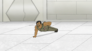 S8E15.096 Rawls Doing One Handed Push-Ups
