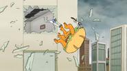 S6E27.123 Monster Sandwich Falling Out a Window