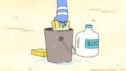 S4E21.031 Mordecai Dipping a Sponge in a Bucket