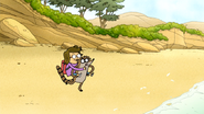 S6E15.056 Rigby Tripping on the Beach