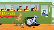 S6E13.060 Mordecai and Rigby Reaching the Front of the Bus