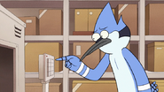 S8E16.167 Mordecai Inputting the Next Bed Code