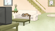 S6E19.001 Rigby Sleeping with His Eyes Open 01