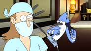 S6E26.070 Mordecai Death Kicking CPR Intern