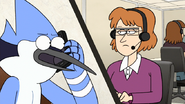 S7E26.104 Mordecai Talking to the Customer Service Lady