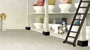 S4E31.057 Mordecai and Rigby Hiding Behind a Toilet
