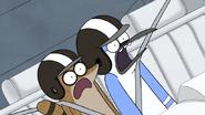 S4E21.198 Mordecai and Rigby Screaming at Limosaurus