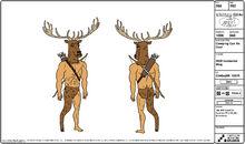 Stag-Man Model Sheet