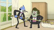 S6E28.047 Mordecai Stopping Muscle Man's Rampage
