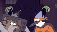 S7E09.319 Chocolate Witch Approaching Mordecai and Rigby