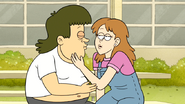 S6E02.042 A Girl Almost Kissing a Muscle Man Imposter